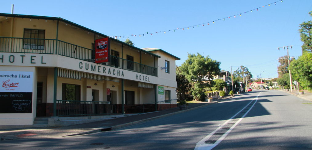 Looking up Gumeracha's main Albert Street