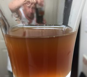 The Diablo IPA out of the fermenter just before bottling