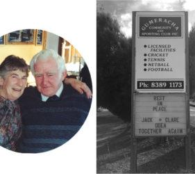 RIP Clare and Jack O'Dea, together again