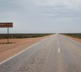 Eastern end of treeless plain on the Nullarbor
