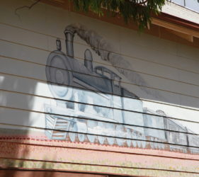 Mural on old Cook School House