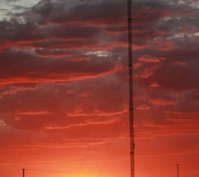 Sunset over the Telecommunications Tower at Cook