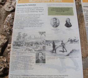 Information display at Murrawijinie Cave 1