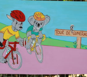 Bike art around Gumeracha for the Tour Down Under