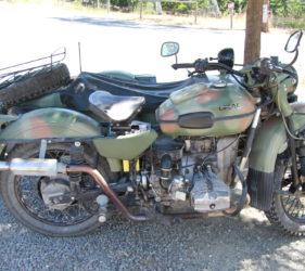 Old motorbike parked at Kenton Valley Cherry Farm