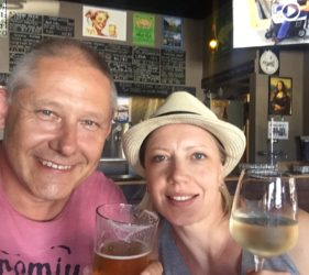 Vic and his cousin Gita from Latvia at Steins Taphouse, Nuriootpa. Excellent range of craft beer!