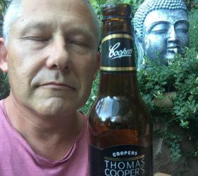 Vic enjoying a Coopers Celebration Ale