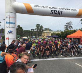 Stage 1 Start of the Women's Tour Down Under at Gumeracha