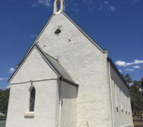 Birdwood Church, where Leonie and Vic were married