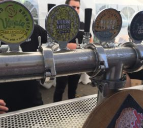 Beer taps from the Woolshed at the Gumeracha Beer and Bite