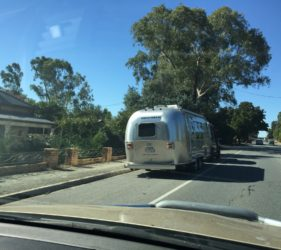 An Airstream RV in Birdwood. So cool looking!