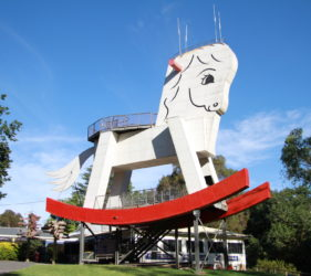 The Big Rocking Horse at the Toy Factory, Gumeracha