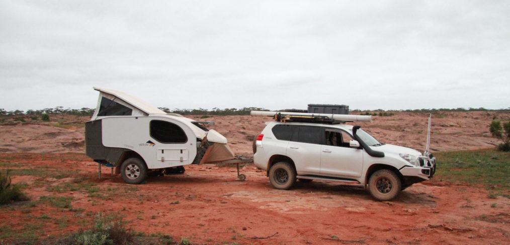 Peggy (Prado 150) and Dora (Vista RV Camper) at Afghan Rocks