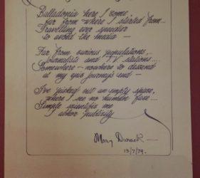 Skylab Speaking poem written by Mary Durack at the Balladonia Hotel Motel