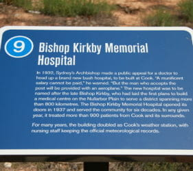 Sign #9 at Cook - Bishop Kirkby Memorial Hospital